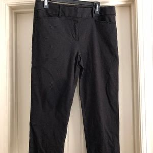 Loft Size 12 Black with dots work pants